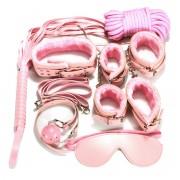BDSM Anfänger-Set Fesselset Fetisch Toys 8teilig rosa - FS8pink