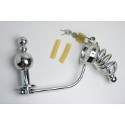 Keuschheitskäfig aus Metall für Herren mit Anus-Fixierung und urethralem Rohr Chastity Cage AK001