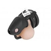 Keuschheitskäfig ergonomisch für Penis Glied Mann Herren Chastity Cage Silikon schwarz B002black - LAGERWARE