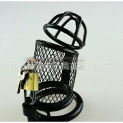 Keuschheitskäfig aus Metall schwarz für Penis Glied Mann Herren Chastity Cage CB-3000
