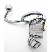 Keuschheitskäfig aus Metall für Herren mit Anus-Fixierung Chastity Cage CB018