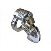 Keuschheitskäfig aus Metall für Penis Glied Mann Herren Chastity Cage verstellbarer Hodenring CB019