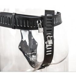 Keuschheitsgürtel Kunstleder schwarz Damen abschließbar verstellbar SMP5