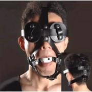 Ballknebel Mundknebel weiss Harness mit Luftlöcher Augenmaske HZ0743B