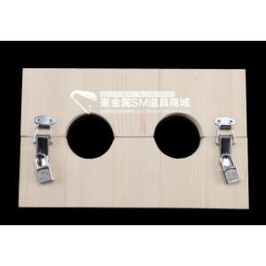 Holzhandschellen Holzpranger Hände 2 Löcher - 2109K2