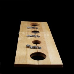 Holzpranger Füße & Hände 4 Löcher - 2203A