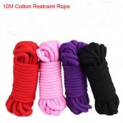 Bondage-Seil Restraint Rope 10m 8mm dlck - Farben: schwarz, pink, rot, lila - MXN015