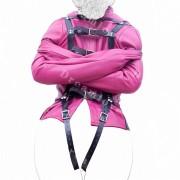 Zwangsjacke Damen Bondage Jacke pink rosa - ZJAP1